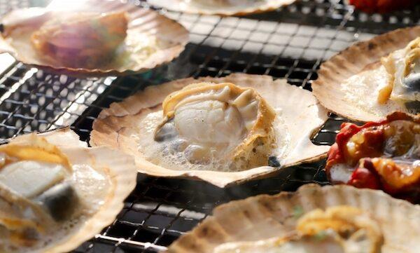 バーベキュー 魚介類