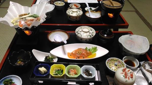 丸駒温泉 夕食